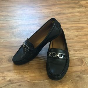 Coach Women Fortunata Leather Driving Mocs Loafers